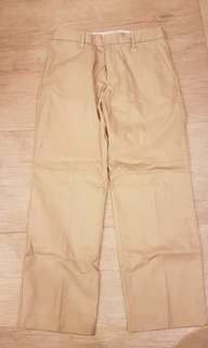 Uniqlo men smart fit smooth khaki pants, size M