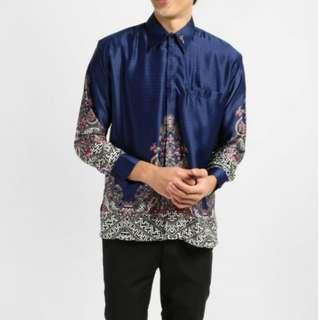 Baju Batik in Royal Blue ab49c1f7c9