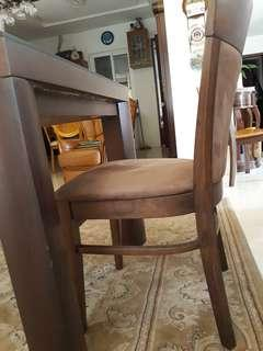 Very durable 2 Mahogany soft seat Chairs