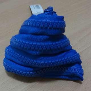 Blue Zipper Coin pouch