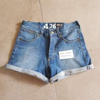 Huffer denim shorts
