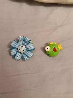 Pins badges fun creative fish ribbon colourful colorful pin badge cute quirky crazy kids accessories