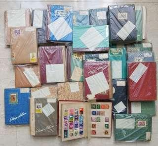 Stamp collection in 27 albums
