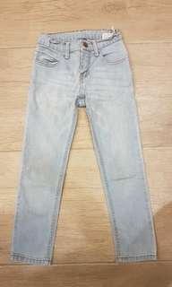 Girl's denim pants, no brand, adjustable waist, size 6