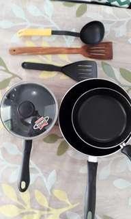 Cooking set - pan pot teflon