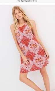 Tigerlily sleeveless pink mini dress