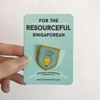 The Little Drom Store Lobang King Pin Badge #SpringCleanAndCarousell50