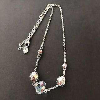 情人節禮物🎁 🈹【100%正貨】Swarovski 施華洛世奇水晶琉璃珠&骰仔閃石 水晶頸鏈