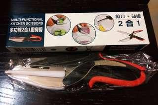 🌟【廚房好幫手】多功能二合一廚房剪刀