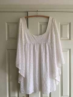 White crochet Tigerlily dress