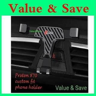 PROTON X70 Custom Fit Carbon Look Phone Holder
