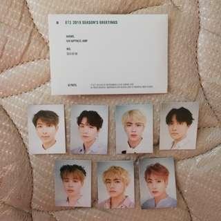 BTS 2019 SEASON GREETING ID PHOTO
