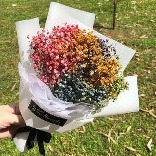 🌈 Coloured baby's breath // Dried floral bouquet