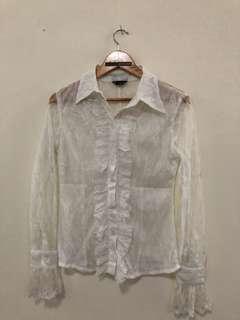 atasan Renda Putih/white lace top