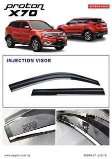 PROTON X70 injection Door Visor Stainless Steel Moldings