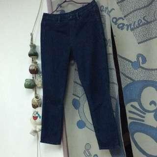 🚚 Uniqlo 彈性九分牛仔褲