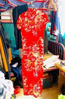 中式旗袍 真絲
