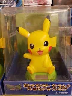 全新 比卡超 太陽能 搖頭公仔 pokemon pikachu 日本 直送 正版