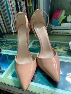 杏色高跟鞋 12cm高 size41