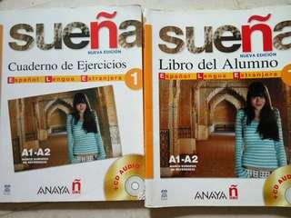 Spanish textbook and workbook