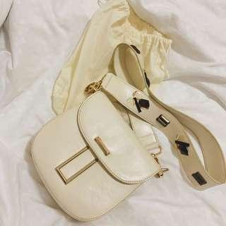 JOSVLI CREAM WHITE ROUND BAG