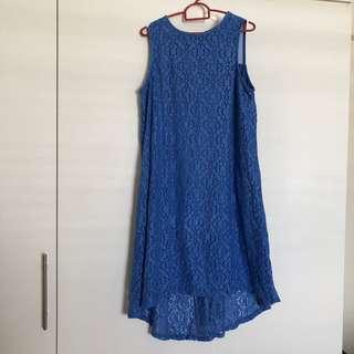 🚚 BN blue lace sleeveless dress maternity plus size