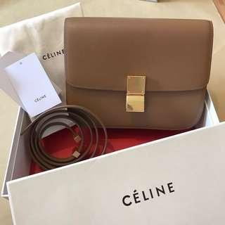 Céline Box in Taupe Grained Leather RRP $5400