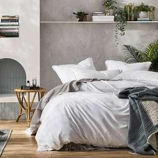 Home Republic White Linen King Size Bed Set