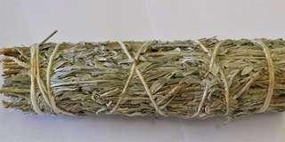 """Frankincense Smudge Stick 4"""" (Mountain Sage & Frankincense Resin) Packaged @PHP250"""