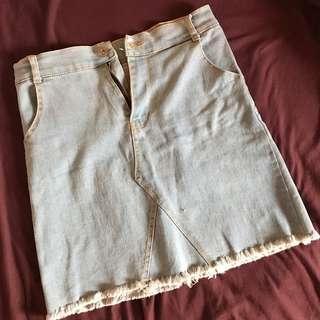 Maong Denim Skirt