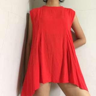 Kidnapped Ally Red Top / blus / blouse merah