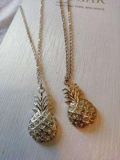 Lovisa pineapple necklace (gold&silver)