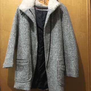 🔵毛絨絨灰色大衣🔴