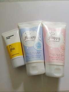 BN Etude Cleansing Foam or Happy Essential Foam (Hyaluronic Acid or Collagen) Sealed Yr2021