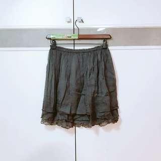 🚚 二手TOP-DO亮絲彈性灰色短裙