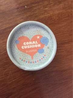 Coral Cushion Blusher, Blush On
