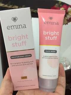 Emina facial wash dan moisturizer cream