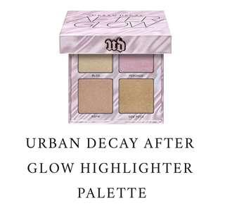 100% BRAND NEW ORI URBAN DECAY AFTERGLOW HIGHLIGHTER PALETTE