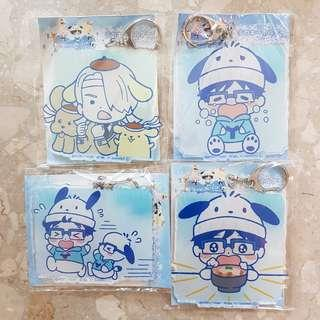🚚 Yuri on Ice x Sanrio Deka Acrylic Keyholders