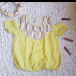 Sale!! Yellow off shoulder top