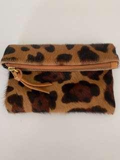 Fur zip pouch