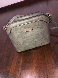 grey messenger/sling bag