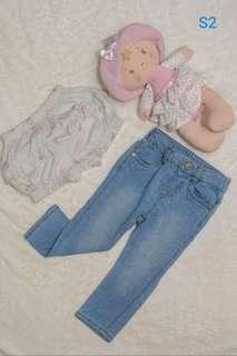 Baby Girl Mothercare jeans and shorts