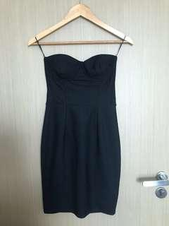 Topshop Bustier Black Dress