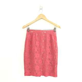 H&M Pencil Skirt Coral Fits Size 26-28