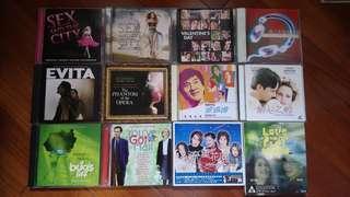 Set4: 電視電影原聲cd 10隻加2隻vcd 可散買每隻$25