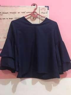 mango dongker blouse