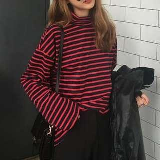 Red and Black striped long sleeve