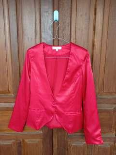 Blazer merah maroon #CNY2019