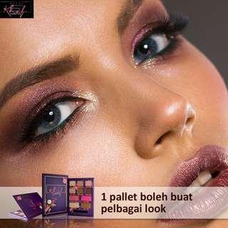 Khaf palet.. Set lengkat makeup dalam satu palet